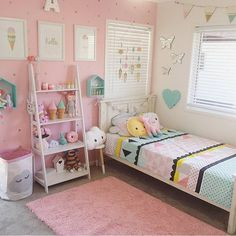 51 Cute Little Girl Bedroom Design Ideas You Have To See - Girls bedroom ideas little - Big Girl Bedrooms, Little Girl Rooms, Bedroom Girls, Bedroom Wall, Princess Bedrooms, Diy Home Decor Bedroom Girl, Elegant Girls Bedroom, Ikea Girls Room, Preteen Bedroom