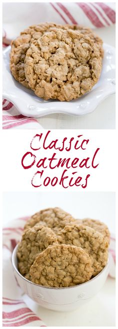 Classic Oatmeal Cookies | Chewy, buttery and irresistible  @lizzydo
