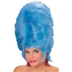 Rubie's Costume Giant Beehive Wig, Blue, One Size
