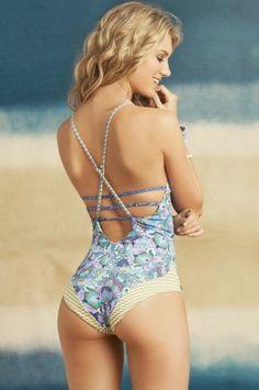 Maaji Swimwear 'Blue Box' Strappy One Piece | The Orchid Boutique