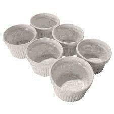 Om Joy Collection Half Cup Flameproof Porcelain Ramekins Dish Set (6) -- Visit the image link more details.