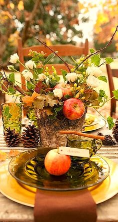 fall place setting...