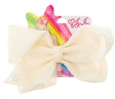 JoJo Siwa Large Ivory Sequin Hair Bow