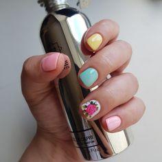 Spring manicure 🌸🌺🌞 Manicure, Nails, Nail Polish, Spring, Beauty, Nail Bar, Finger Nails, Ongles, Nail Polishes