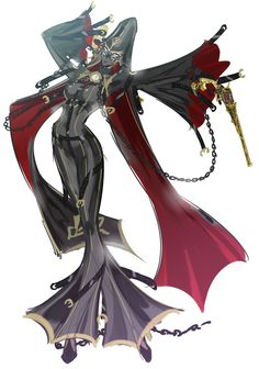 07_unknown // Bayonetta 2 Concept Art // Platinum Games