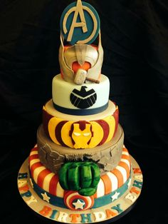 Marvel Superhero Avengers Cake Let them eat cake Pinterest