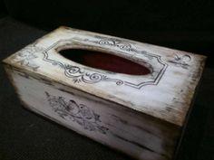 chustecznik Kleenex Box, Craft Bags, Covered Boxes, Tissue Boxes, Shabby Chic, Wraps, Scrapbook, Diy, Ideas