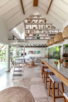Bali Interiors visits Beyond Bungalows. A new type of boutique hotels nested on the coolest new area in Bali. Designed by Biombo Arquitecture and Designed. Bungalows, Natural Stone Flooring, Natural Wood, Hotel Interiors, Bungalow Interiors, Architecture, Interior And Exterior, Room Interior, Home Interior Design