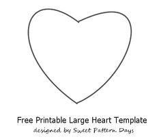 Free Heart Templates To Print  Activity Printables