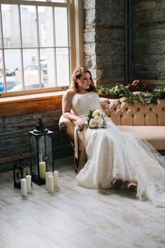 Beautiful bridal gown from Lily's Bridal in Napanee, Ontario. Wedding Photography done by Woodland Film Co. #Wedding #weddinggown #weddingdress #bride #photography #vintage #bridalshoot #Ido