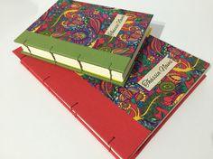 Cadernos costura copta personalizados