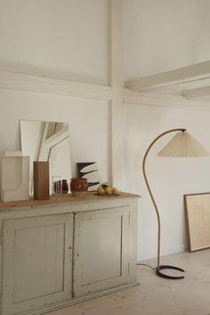 Antique cabinet in Copenhagen apartment.