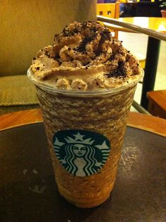 Holy Hell... just when you think a frap couldnt get any tastier, or any more gut bustin calorie filled. I give you the mocha cookie crumble.