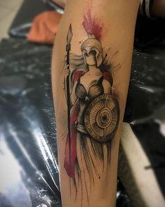 """Leticia Novo Módena on Instagram: """"Um trabalho de se admirar! Eu ameii demais ! ❤️ #amotattoo #inktattoo  #inkedgirls #athenatattoo"""" Athena Tattoo, Piercings, Medieval, Tattoo Ideas, Nova, Inspirational, Instagram, Character Art, Tattoos"""