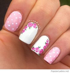 rose-and-white-manicure-with-roses-and-polka-dots