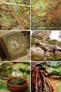 «Осень в лесу» — коллекция предметов ручной работы  Handmade items set, see more: http://www.livemaster.ru/gallery/1255447