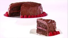 Get Chocolate-Raspberry Layer Cake Recipe from Food Network