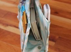 Use your slouchy purses again! Make your own DIY purse organizer, with full tutorial steps at fresh crush [dot] com. Never miss a call or lose a lip gloss again, with this perfect purse saver.