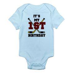 Hockey 1st Birthday Infant Creeper  £11.00