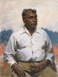 Detail: William Dargie Albert Namatjira 1956 oil on canvas Queensland Art Gallery - Aboriginal artist Indigenous Australian Art, Indigenous Art, Australian Artists, Australian People, Aboriginal History, Aboriginal Artists, Aboriginal Painting, Gallery Of Modern Art, Art Gallery