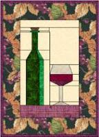 FREEBIES FOR CRAFTERS: Wine bottle and glass paper pieced block