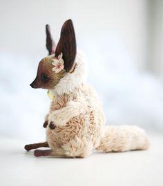 2013 fennec fox doll. Hope to make similar this year! #handmade #arttoy #artdoll #fennec #fennecfox