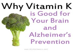 """Often called """"the forgotten vitamin,"""" vitamin K plays a vital role in the anti-aging process and may even have Alzheimer's disease fighting properties. Just don't eat too much vitamin K if you take a """"blood thinner"""" like Coumadin/warfarin Healthy Foods To Eat, Healthy Life, Healthy Eating, Healthy Recipes, Health Tips, Health And Wellness, Alzheimer's Prevention, Brain Diseases, Alzheimer's And Dementia"""
