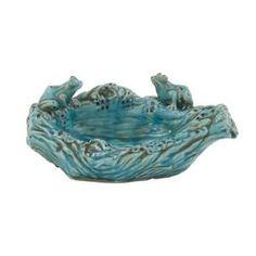Ceramic Frog Bowl Sculpture by Wayfair