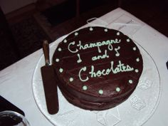 January 2014 Champagne and Chocolates yummy chocolate cake