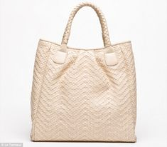 Spoils: Valerie Trierweiler gave the U.S. First Lady Michelle Obama a Cabas Vicky handbag when the pair first met last month. The bag (above) was purchased from a French store called Le Tanneur