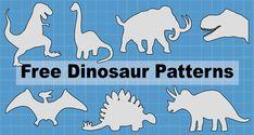 Dinosaur Patterns and Stencils (Printable Templates) Dinosaur Stencil, Dinosaur Template, Paper Dinosaur, Dinosaur Pattern, Dinosaur Crafts, Dinosaur Outline, Dinosaur Party, Felt Patterns Free, Felt Board Patterns
