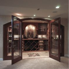 Now this is a wine cellar that my husband would love.  Gallagher Custom Wine Cellar - Home and Garden Design Idea's