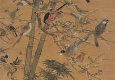 Bian Jingzhao: Three Friends and One Hundred Birds