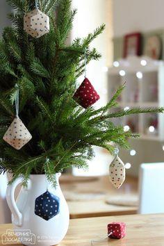 Как сшить сосульки и льдинки / Icicle Christmas ornaments tutorial - Вечерние посиделки