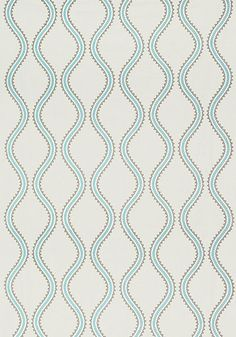 JUNIPER OGEE EMBROIDERY, Aqua, W764108, Collection Caravan from Thibaut