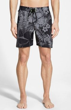 Sundek+Low+Rise+Hawaiian+Print+Board+Shorts+available+at+#Nordstrom