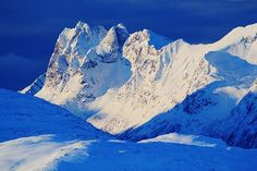 """Mountains Of Kvaløya, Troms County, Norway"""