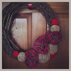 Burlap and Fabric Removable Wreath Attachment on Etsy, $22.00