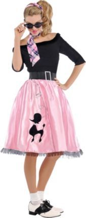 Adult Sock Hop Sweetie 50s Costume my halloween costume