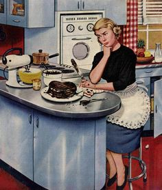 'Disappointing Results', art by Stevan Dohanos for the Saturday Evening Post, May 21, 1955.