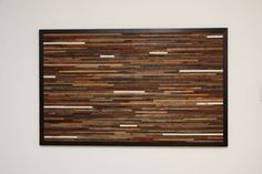 I'd like to do a whole wall like this - maybe with a few hits of teal.  Reclaimed wood wall art 48x30x1 by CarpenterCraig on Etsy, $850.00
