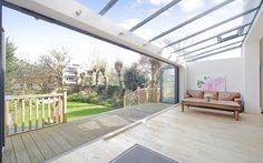 Putney, London  Inside easily becomes outside at this five-bedroom detached family home, where the conservatory's concertina doors open to reveal the walled garden. Around £1.8m,