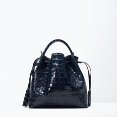 ZARA - COLLECTION SS15 - Crocodile leather bucket bag