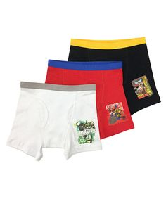 Black, Red & White Transformers Boxers Set - Boys by Transformers #zulily #zulilyfinds