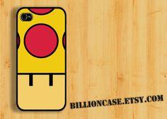 Mega Mushroom Super  Mario Movie Parody -  iPhone 5 4 / 4s Galaxy Case Hard Plastic Case Rubber Case. $15.99, via Etsy.