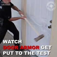 Make your door virtually impossible to kickin! The Door Armor protection system reinforces all of your doors weak points Protect what matters most, your family at home is part of Diy home improvement - Home Security Tips, Home Security Systems, Security Doors, Home Protection, Diy Home Repair, Home Safety, Home Gadgets, Home Repairs, Panzer