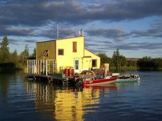 Great Slave Lake Houseboat, Northwest Territories, Canada