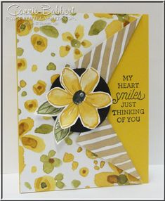 Garden In Bloom, Suite Sayings, Collar Fold Technique, flowers, Stampin' Up!, #stampinup, created by Connie Babbert, www.inkspiredtreasures.com
