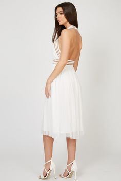 20d3ea916c TFNC SABILA WHITE MIDI DRESS