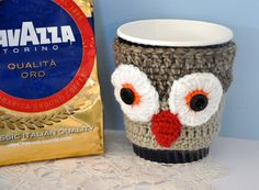 Owl Coffee Cosie / Take-away cup holder / Mug warmer - by BabzzzDesigns on madeit $12.50